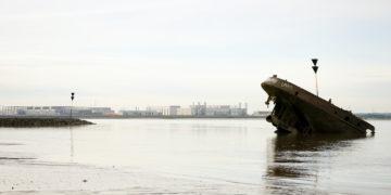 Schiffswracks in Blankenese